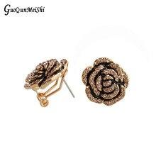 2pairs Flower Brand 90s Fashion Jewelry - Dangle Drop Clip Stud Earrrings For Women - Earrings Birtherday Career Dance Wedding