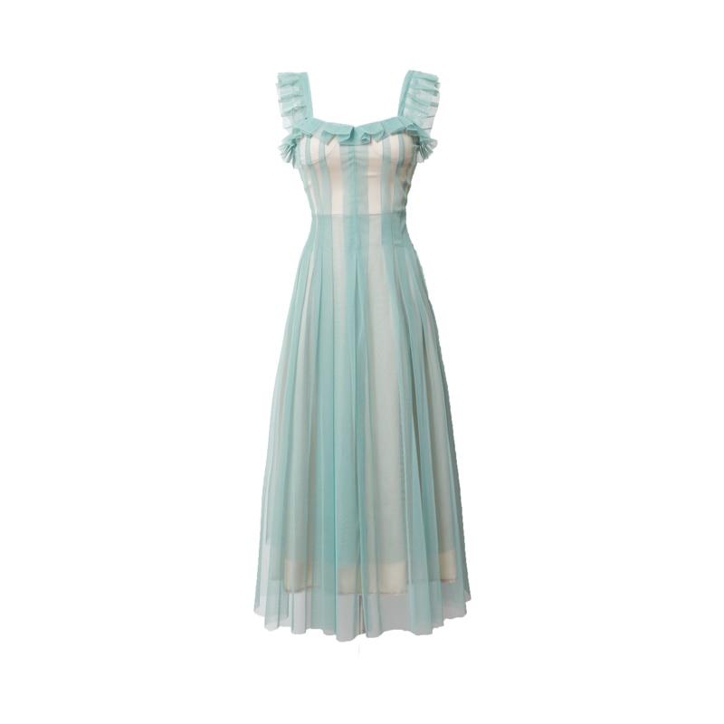 And Geometric Print Three Quarter Sleeve Pocket Dress cheap