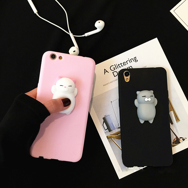 finest selection a529d 07881 US $3.48 |XINGYUANKE 3D Squishy Phone Case For OPPO A73 Case Soft Silicone  Cute Cartoon Cat Bear Cover For OPPO F5 Capa Coque-in Fitted Cases from ...