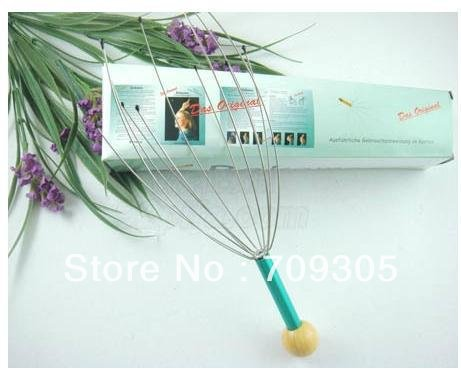 free fedex.Wholesale 100pcs/carton Tngle Head Massager, Handy Head Massager with retail box(color box)