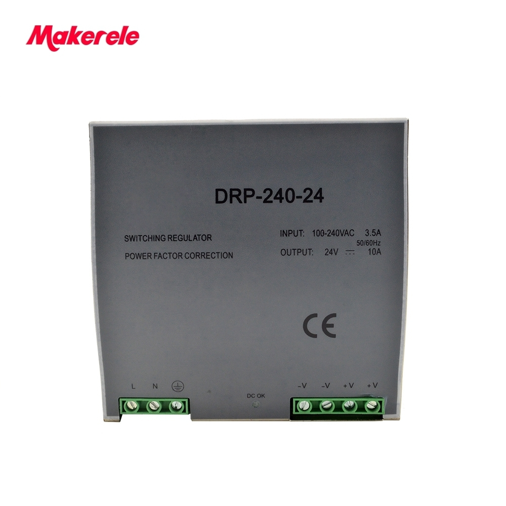 цена на Single Output LED DC 240w Din Rail Power Supply 5V 12V 15V 24V 48V Transformer high quality switching power supply from makerele