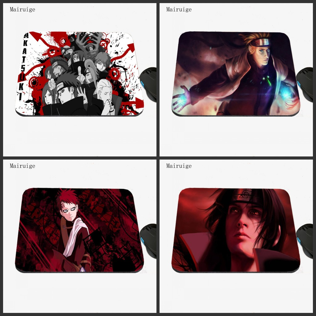 Mairuige Naruto mouse pad gamer play mats Size for 18x22 Gaming antiskid rubber mousepads High-quality Office Desk mats