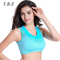 YBZ Bras Women Seamless Wirefree Padded Push Up Bras One-Piece Crop Top Girl Adjusted-Strap Breathable Sexy Underwear