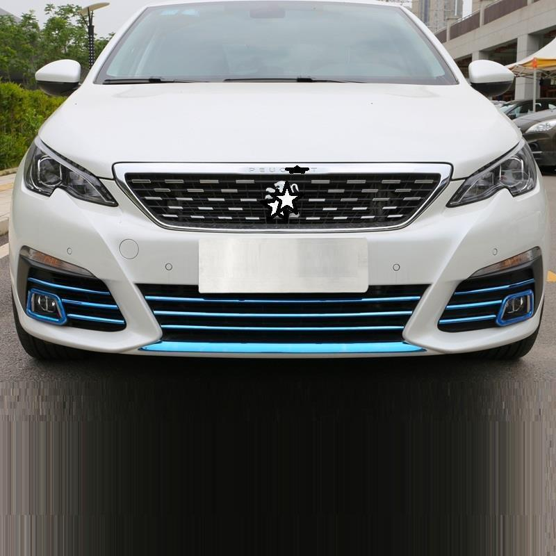 Grille Automobile Personalized Upgraded Auto Chromium Car Styling Decoration Sticker Strip Accessory 18 19 FOR Peugeot