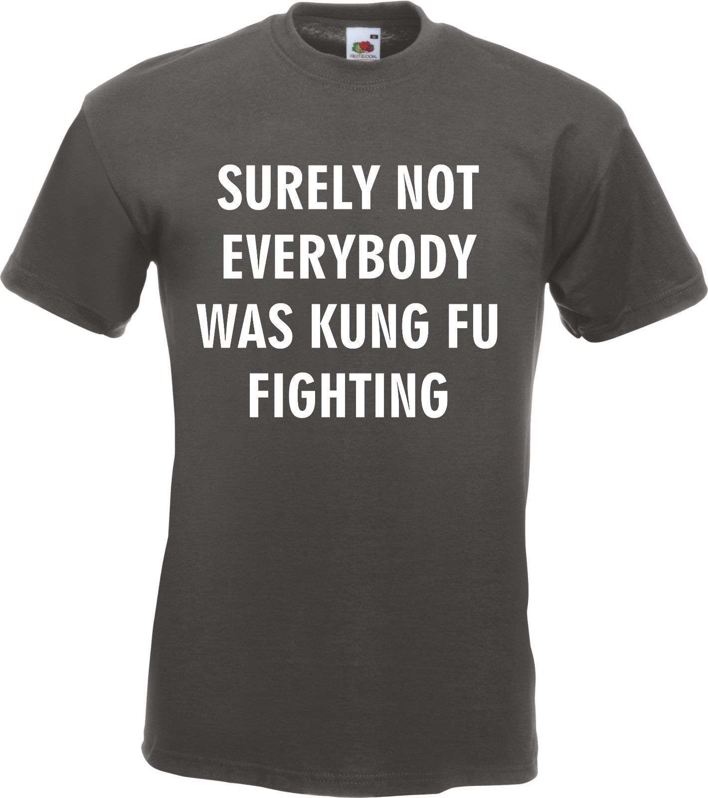 Surely Not Everybody Was Kung Fu Fighting T-Shirt Top Tee Dance Song Joke New T Shirts Funny Tops Tee New Unisex Funny Tops image
