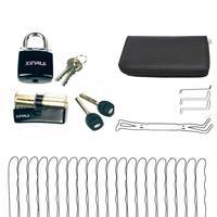 Free Shipping 24pcs Broken Key Remove Tools with 2pcs Transparent Lock Set Locksmith Supply Best Training Set