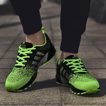 Men Sports Shoes 2018 Breathable Mesh Outdoor Men's Running Shoes Comfortable Lace-Up Male Shoes Spring Autumn Men Sneakers(China)