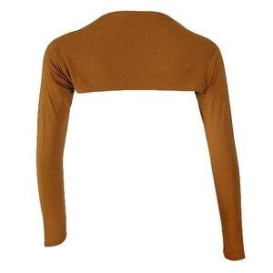 Image 3 - אופנה נשים של רך חתיכה אחת ארוך שרוולים אלסטי מודאלי זרוע חם כיסוי משיכת הכתפיים חיג אב חולצות בגדים מוסלמיים