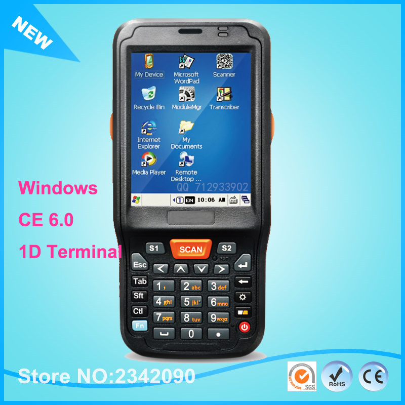 Windows Ce 6 0 Os 1ghz Rugged Handheld Data Collector Pda For 1d Barcode Scanner With Wifi Bluetooth 4500mah Gps Rfid 3g Camera In Scanners From Computer
