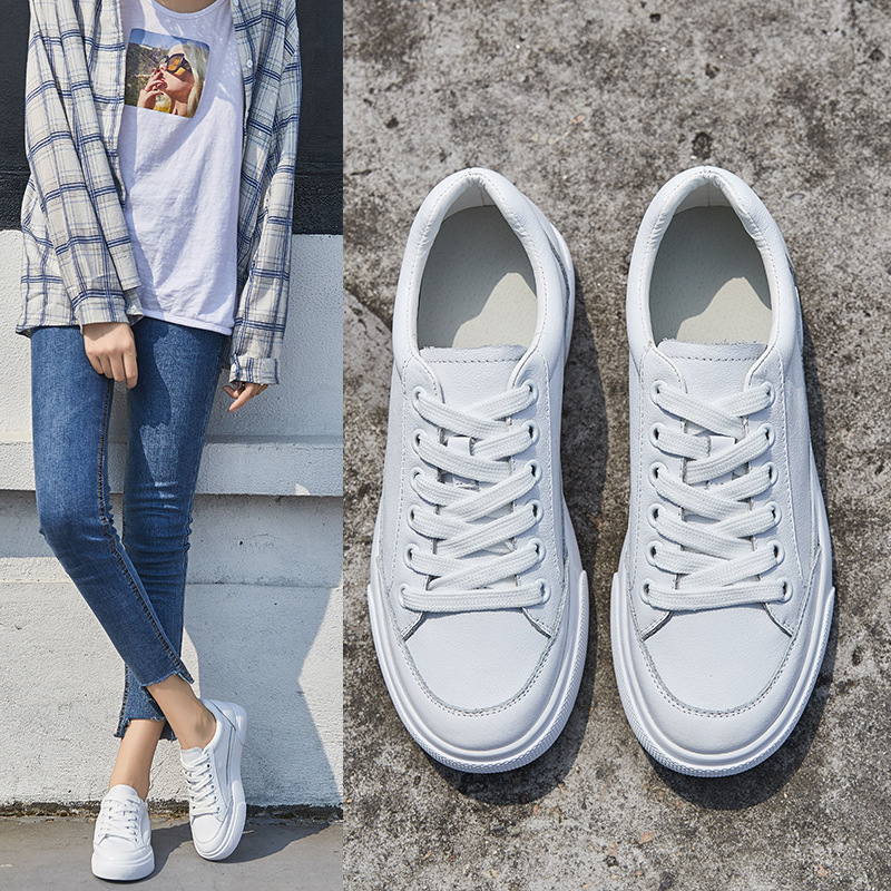 2018 Fashion Genuine Leather Shoes Women Vulcanizat