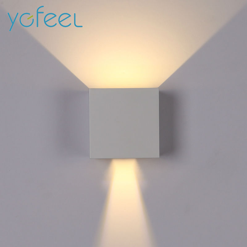 Led Wall Light Ip65: LED Wall Light Outdoor Waterproof IP65 Modern Nordic Style