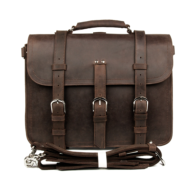 2014 Promotion Direct Selling Hasp No 5pcs/lot Free Shipping Crazy Horse Leather Men Travel Bag Backpacks Totes Huge #7072R-1