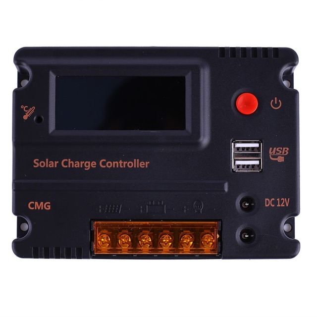 ECO-WORTHY 10A LCD Solar Panel Light Controller Battery Regulator Charge 3A 5V 12V Solar Charger Controller for Solar Lighting