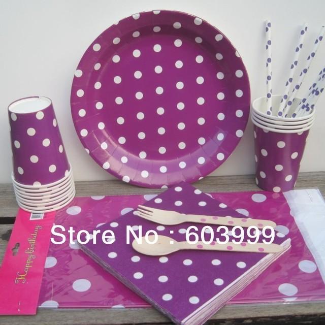 Purple Paper Plates And Napkins u0026 Silver Blocking Purple Striped ... Purple Paper Plates And Napkins Silver Blocking Purple Striped  sc 1 st  Best Image Engine & Astounding Purple Polka Dot Plates Photos - Best Image Engine ...