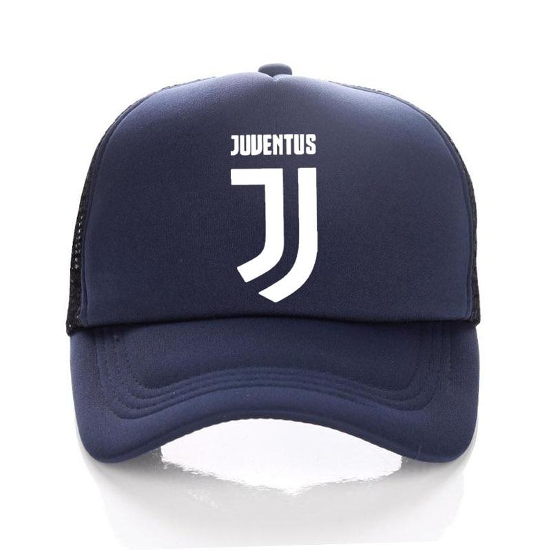 4608f1ae89a RONALDO Football Baseball Hat Child Summer JUVENTUS JJ Caps Kids Trucker  Cap Adult Net Snapback hats Men juventus hat Fans
