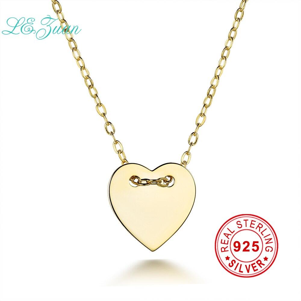 0fdb0b8b58b0 I   Zuan moda corazón forma colgante de plata esterlina esmalte oro  amarillo color joyería para las mujeres 925 colgante de plata collar