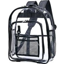 الثقيلة على ظهره واضحة ، والأمن حقيبة المدرسة شفافة ، انظر من خلال حقيبة الكتب للعمل ، والتحقق من الأمن والسفر