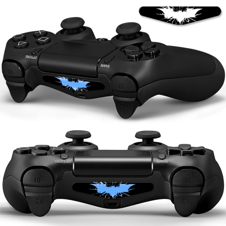 5pcs/set PVC da pele costume para LED Decal Skin Sticker for Playstation 4 PS4 levou barra de luz Decal adesivo para controlador