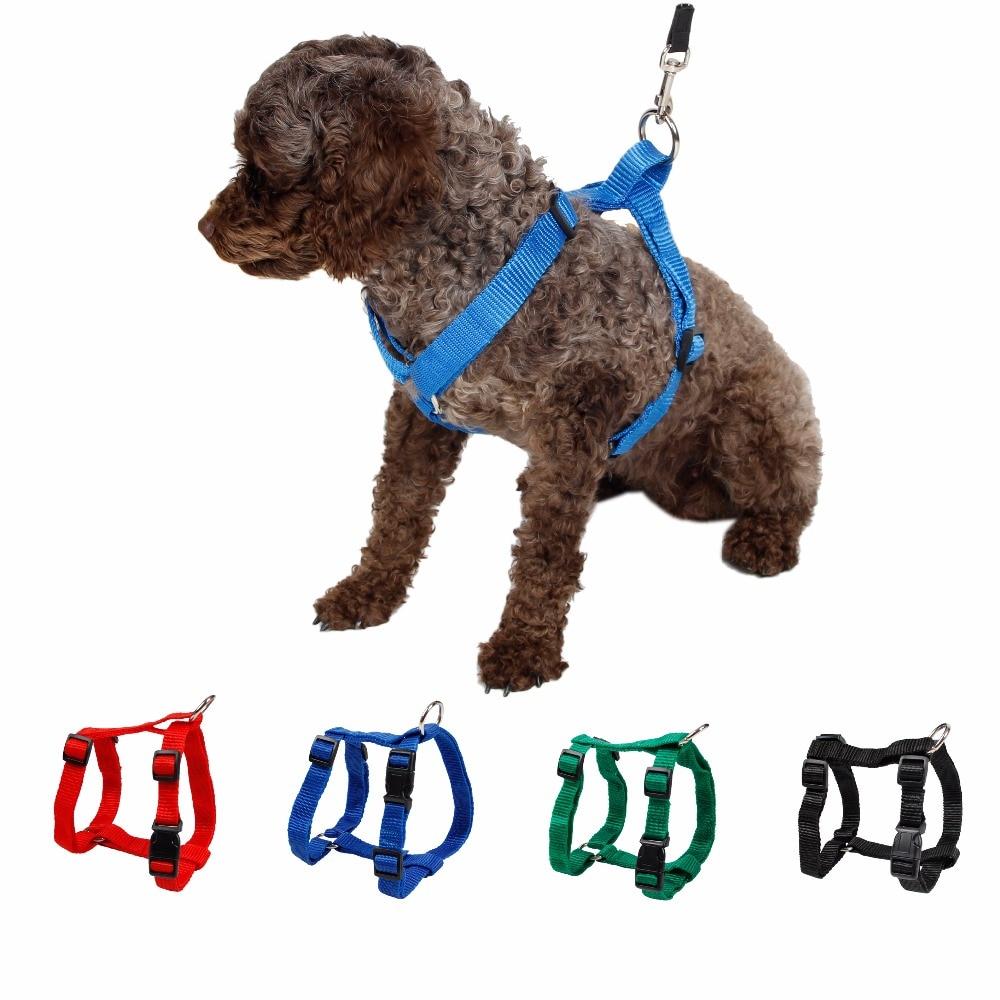 Pet Nylon Harness Leash Adjustable Safe Control Restraint Cat Puppy Dog Harness Soft Walk Vest Blue Red Black Green