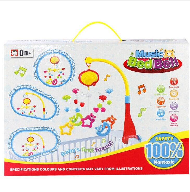 Детская игрушка для новорожденных кровать колокольчик лет висит 360 градусов вращения с музыкой детские игрушки образовательный музыкальны... - 3