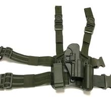 цена на Tactical Pistol HK USP Quick Drop Thigh Holster Tactical Hunting Equipment Airsoft Gun Right Hand Leg Holster