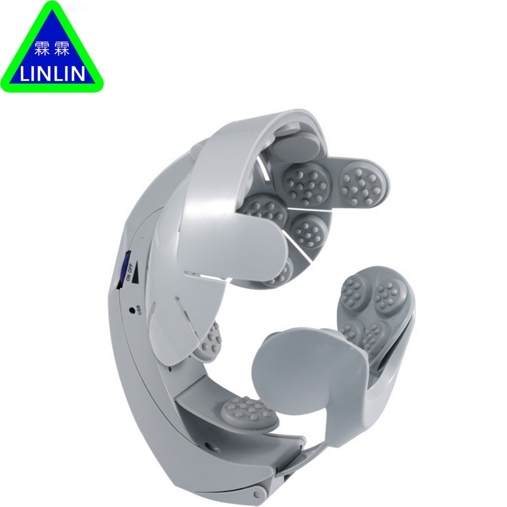LINLIN Head Vibration Massage Easy-brain Massager Electric Head Massage & Relax Brain Acupuncture Points Stress Release Machine humanized design electric head massager brain massage relax easy acupuncture points fashion gray health care home