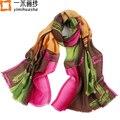 Invierno paisley impreso acogedor pura lana chal bufanda para las mujeres ladies wrap foulard oversize190 * 68 cm