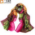 Winter printed paisley cosy pure wool shawl scarf for women ladies wrap foulard oversize190*68 cm