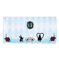 Lolita Alice Cat Tea cards Wallet Purse Long Bag PU Leather Party Print Girl's Coin Female Japanese Hara Cartoon