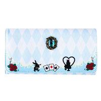 Lolita Alice Cat Tea cards Wallet Purse Long Bag PU Leather Party Print Girl's Coin Female Japanese Hara Cartoon