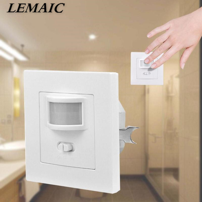 LEMAIC AC 110V-240V Smart Infrared PIR Motion Sensor Switch Auto ON/OFF Human Body Move IR Induction Wall Module For LED Light auto pir led keyhole light genjia human body infrared door lock induction lamp built in 4 led motion sensor light with sticker