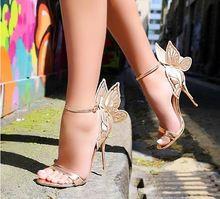 Новое поступление золотистые цвета шампанского женские сандалии