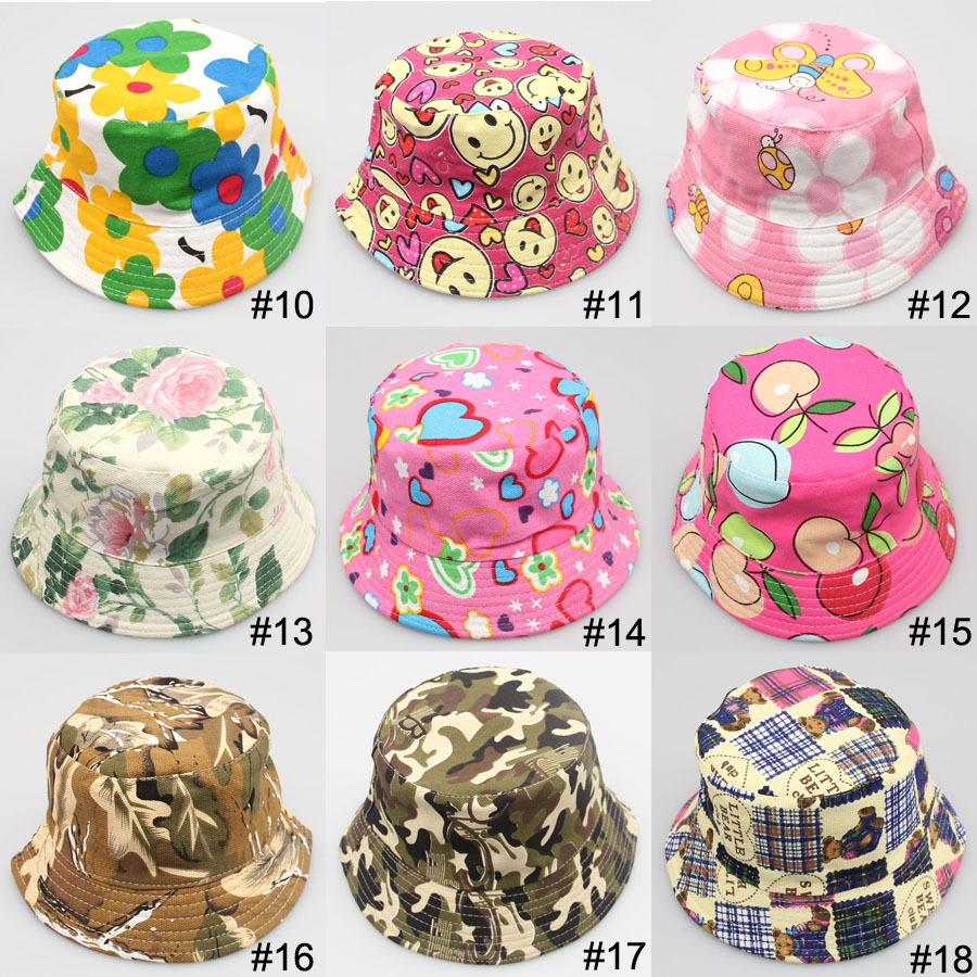 8edd13b07fd 2019 Summer Unisex Kid Bucket hat Photography Hat Kids Sun Hat Floral  CapsTravel Necessity for Boys Girls Children Drop Shipping-in Hats   Caps  from Mother ...