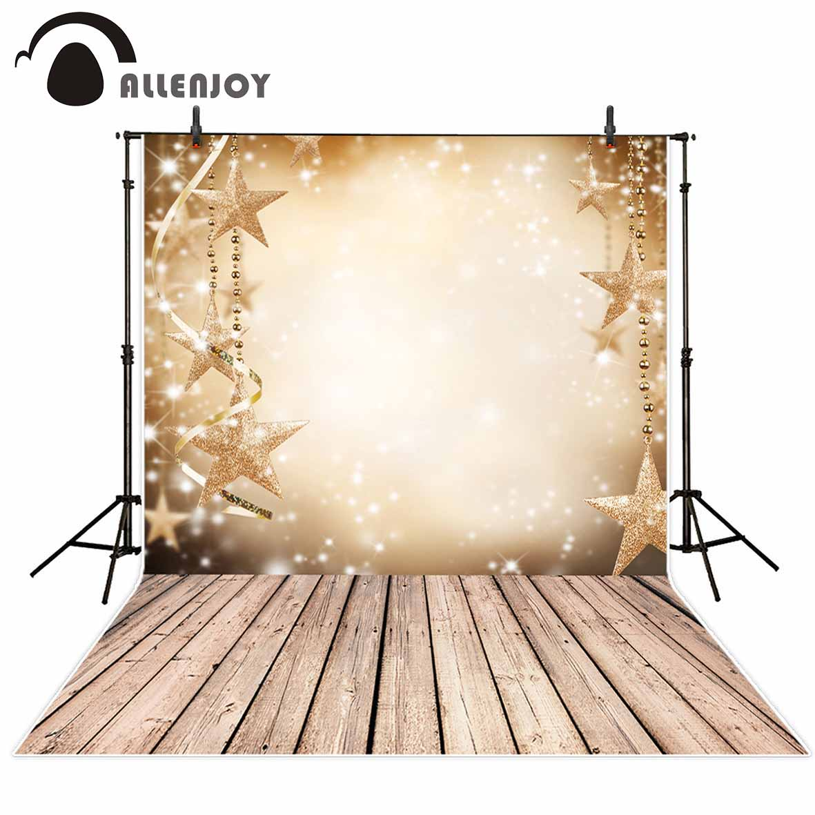 Allenjoy shiny gold stars wood wall floor photography background decoration ribbon board baby shower backdrops photo studio allenjoy photography backdrops love white wood board floor red hearts branches valentine s day wedding photo booth profissional