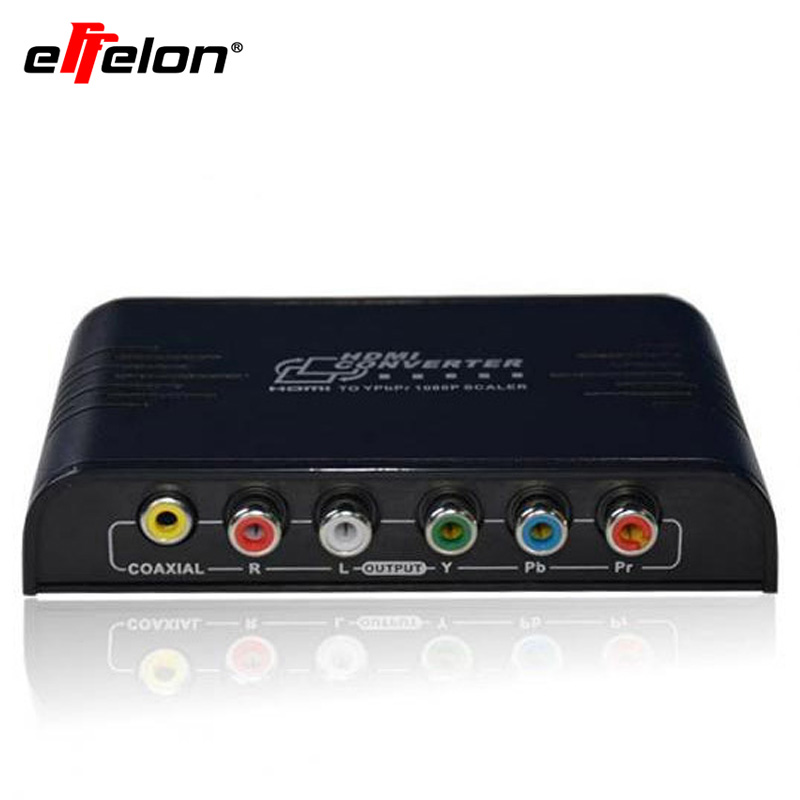 Effelon HDMI to 1080P Component Video YPbPr Scaler Converter Supporting Coaxial Audio Output  ypbpr to hdmi converter 5rca component audio video scaler adapter