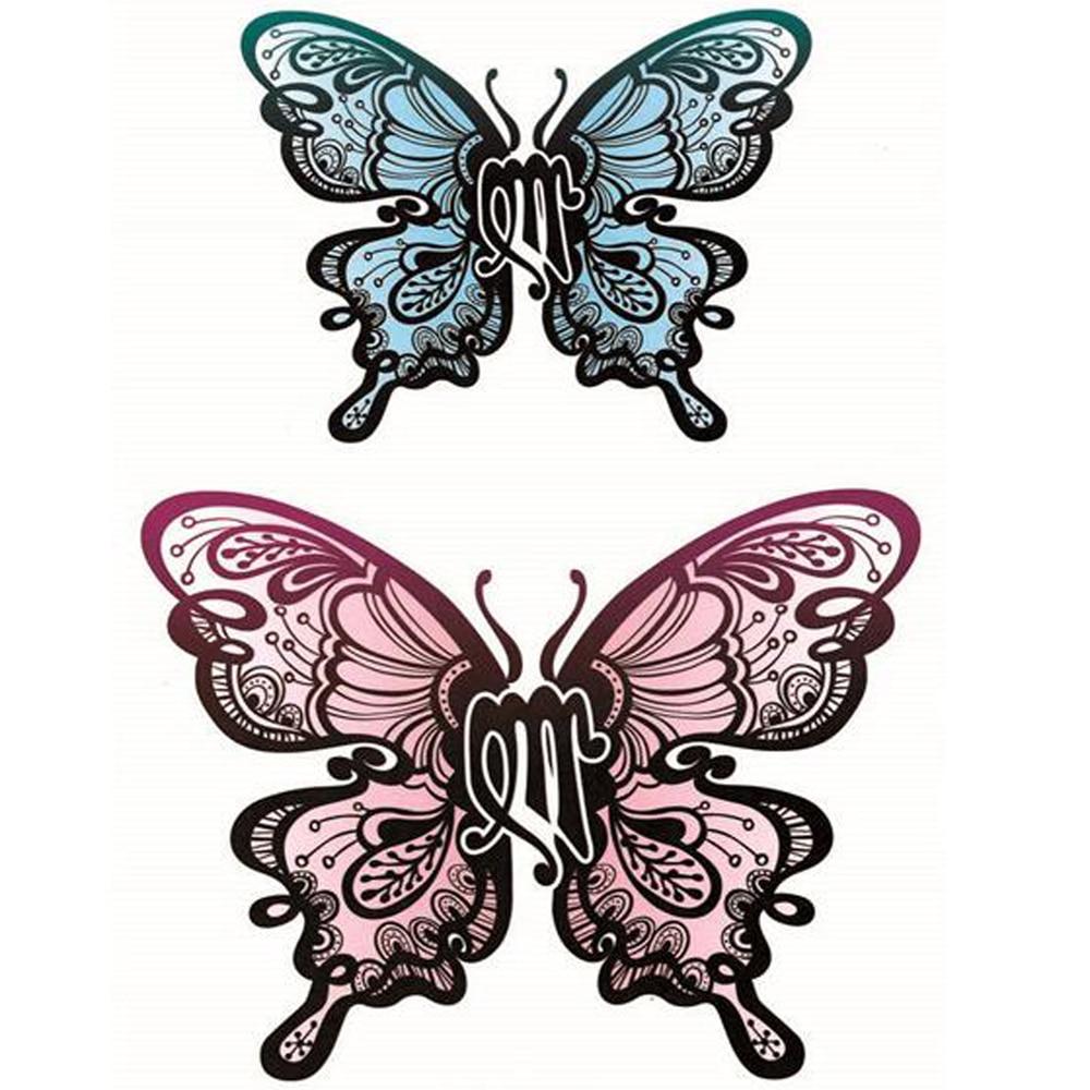ᗗYeeech tatuajes temporales pegatina para las mujeres mariposa azul ...