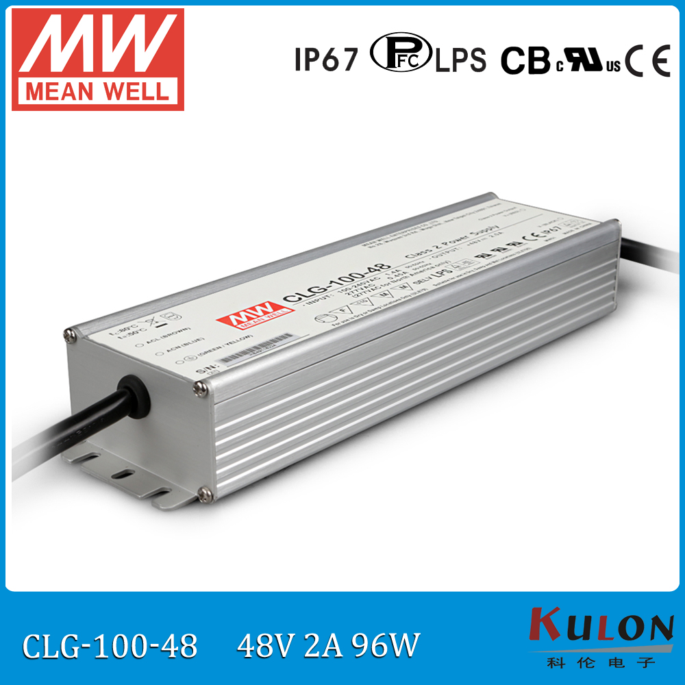 все цены на 100W 2A 48V LED power supply MEAN WELL CLG-100-48 IP67 waterproof meanwell 48V led driver 100W with PFC онлайн