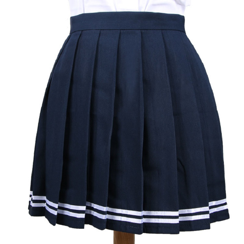 18 Colors Love Live Japan Cute Cosplay School Uniform Skirt Japanese High Waist Pleated Skirt JK Student Girls Solid Skirts
