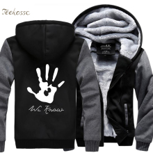 teekossc Skyrim Dark Brotherhood We Know Hand Print Hip Hop Hooded Men Zipper Hoodie
