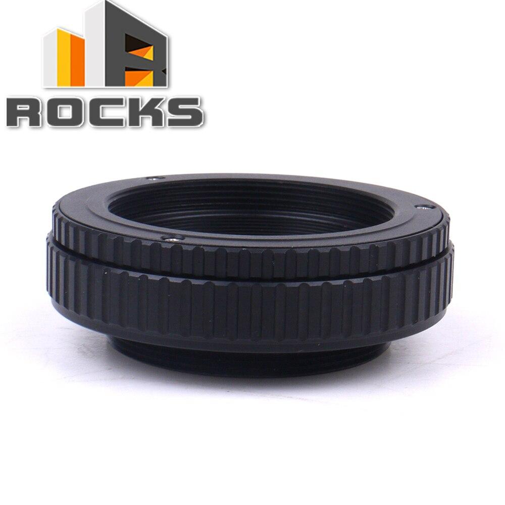 Adaptateur hélicoïdal de mise au point réglable M42 à M42 15-26.5mm 15mm à 26.5mm Macro Tube d'extension vis monture lentille caméra