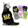 Cute Cat Vest Pet Clothes Spring Shirt Soft Cotton Clothing for Cat Summer Sweatshirt Casual apperal For Small Pets 15