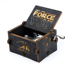 2018 new Black Star Wars Music Box Game of Thrones Castle In The Sky Hand Cranked Wood music box Christmas Gift