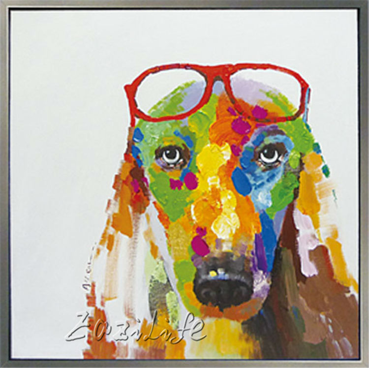 How To Paint A Dog Face On Canvas