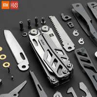 Xiaomi huohou multifunción cuchillo plegable abridor de botellas alicates destornillador cuchillos del ejército de acero inoxidable caza Camping al aire libre