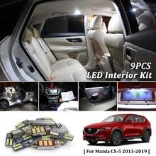 9X Bianco Canbus led Per Auto luci interne Cornici e articoli da esposizione Kit per 2013 2014 2015 2016 2017 2018 2019 Mazda CX-5 CX5 luci a led per interni
