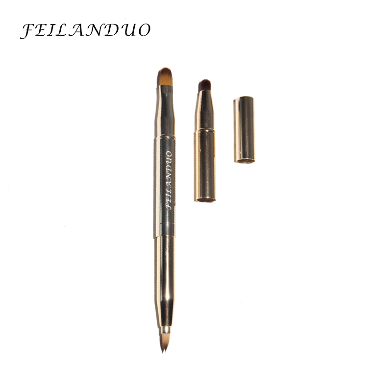 FEILANDUO Gold Retractable Lip Brush Eye Liner Øjenskygge Makeup Brush High Quality Makeup Tool Make Up Brushes