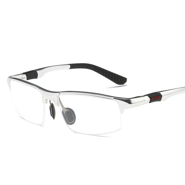 9679097794 B Aluminum Magnesium Men Glasses Frame Metal Half Frame Eyeglasses Male  Computer Optical Spectacles