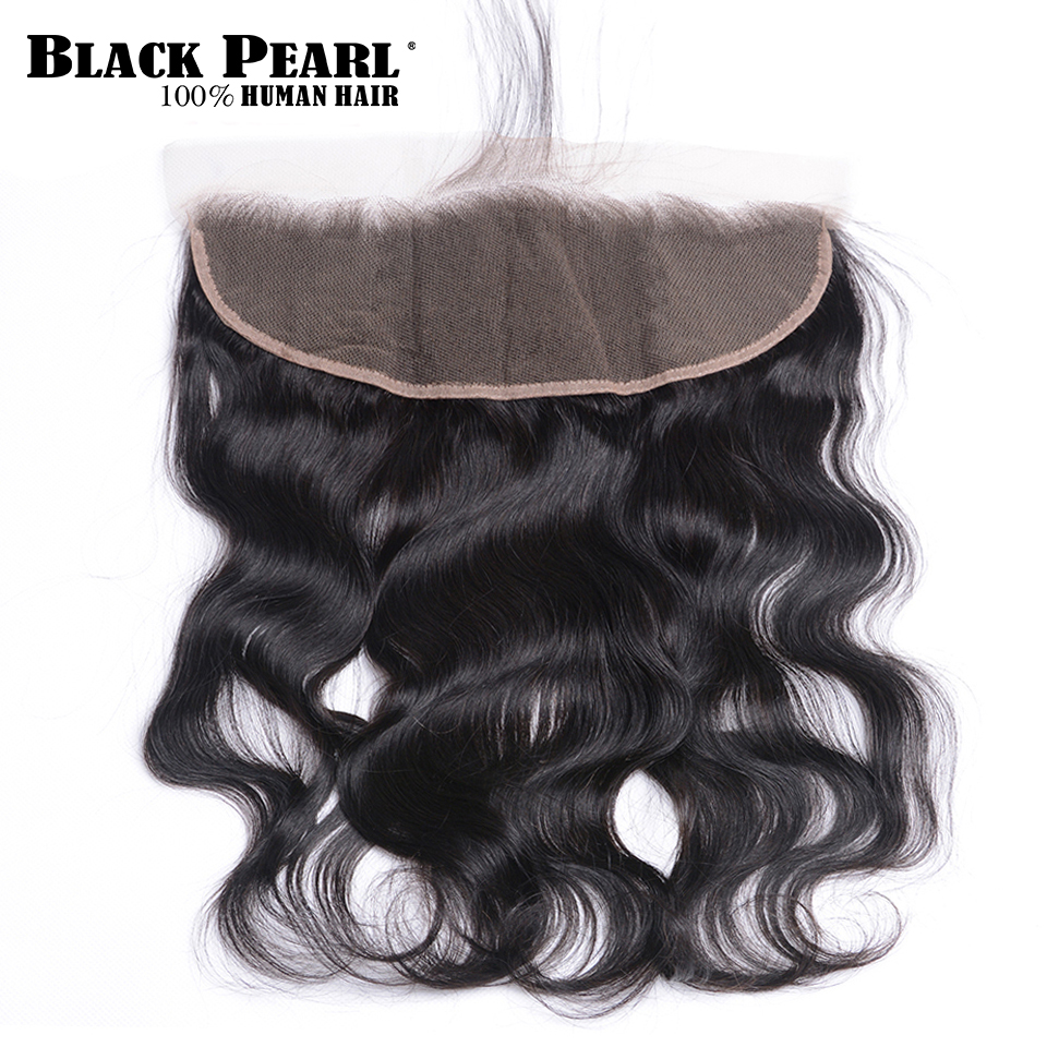 Black Pearl Lace Frontal Closure Peruvian Body Wave 13x4 Frontal 100 Remy Human Hair Natural Color