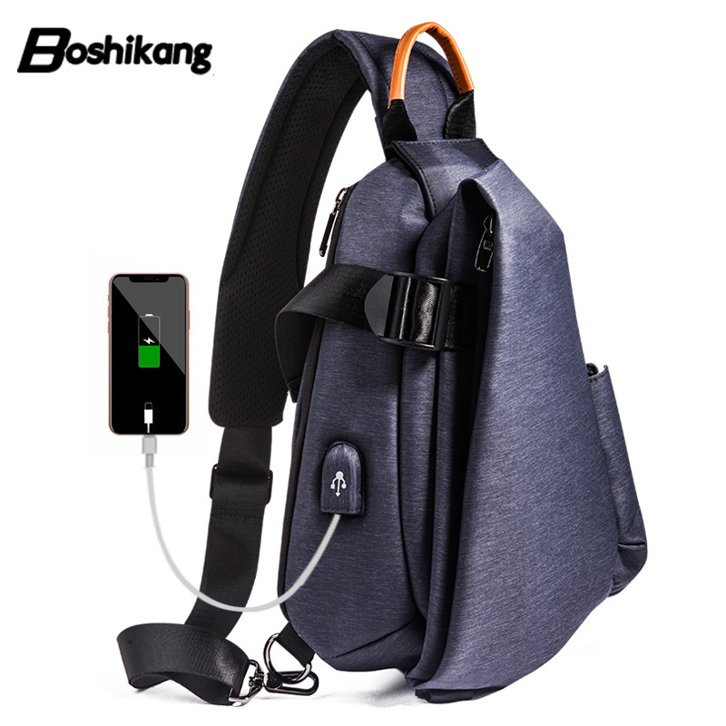 Detail Feedback Questions about Boshikang Men Chest Bag All match Crossbody  Bag Teenager Boy Fashion IPad Cellphone Daypack Waterproof Trendy Men Sling  Bag ... 4993aa4dc6