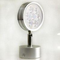 5 개/몫 공장 도매 실내 장식 높은 전원 LED 벽 램프 7 leds AC 110-220 볼트 에너